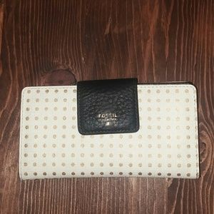 Gold Polka Dot Fossil Wallet
